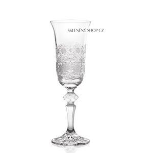Aurum Crystal Broušené sklenice na sekt LAURA 150 ml, 6 ks
