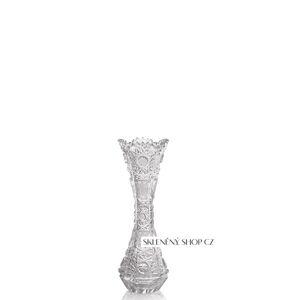 Aurum Crystal Broušená váza SLIM 155 mm