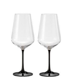 Crystalex Sklenice na víno BLACK&WHITE TWO 450 ml, 2 ks Sklenice: Černé
