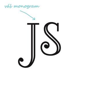 LORD pískování monogramu Výška monogramu: Velký do 6 cm