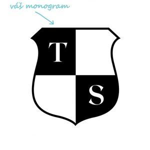 ERB pískování monogramu Výška monogramu: Malý do 2 cm