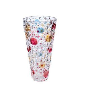 Bohemia Jihlava Barevná váza LISBOA KONUS 305 mm