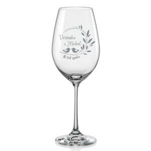Sklenice na víno k výročí Romance