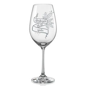 Sklenice na víno k výročí Stuha