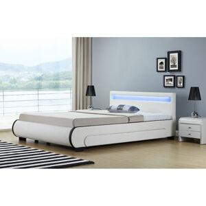 """Čalouněná postel,, Bilbao """"s úložným prostorem 180 x 200 cm - bílá"""