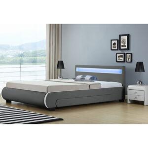 """Čalouněná postel,, Bilbao """"s úložným prostorem 180 x 200 cm - tmavě šedá"""