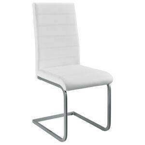 Konzolová židle Vegas sada 2 kusů, syntetická kůže v bílé barvě