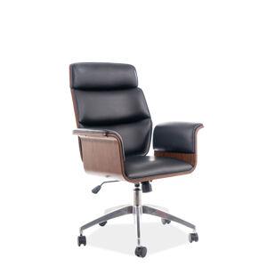 Kancelářská židle OREGON černá eko kůže