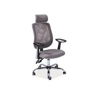 Kancelářská židle Q-118 šedá