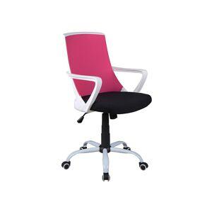 Kancelářská židle Q-248 růžová/černá