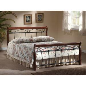 Kovová postel Venecja 120 x 200 cm antická třešeň / černá